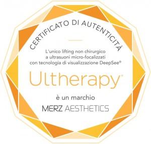 Certificato autenticità Ultherapy